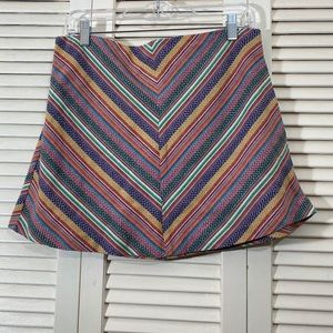 Under Skies Multicolored Striped Skirt